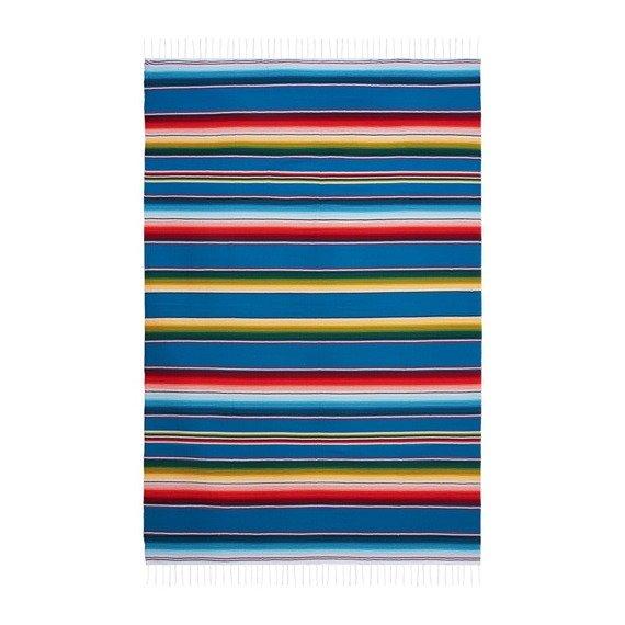 Kolorowy Koc Meksykański 150 x 200 cm